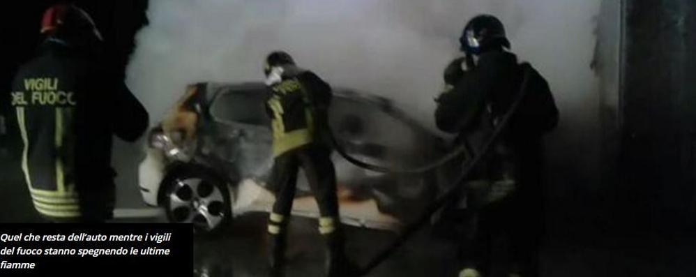 Seregno, auto contro muro  Due brianzoli morti carbonizzati