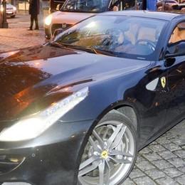 Villa Erba, festa Ferrari  Raikkonen arriva in Giulietta
