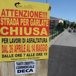 Galbiate chiede pazienza  Cantieri in mezzo paese