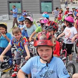Sondrio diventa la città dei bambini, tutti in bici dalla Piastra al centro
