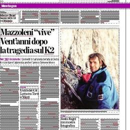 Tutto sulla montagna Oggi le due pagine