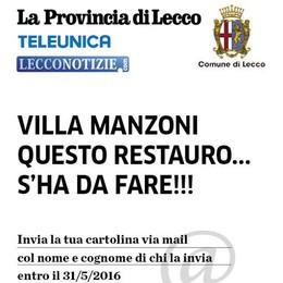 Villa Manzoni da salvare    Serve una valanga di mail  da mandare al governo