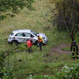Galbiate, auto vola fuori strada  L'ex sindaco Bonifacio illeso