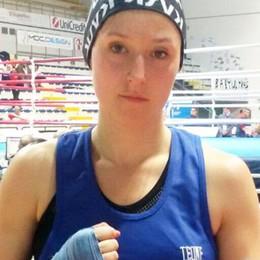 Elena Ghezzi indossa la cintura  In Lombardia è lei la più forte