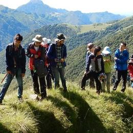 Andar per fossili,   i cinesi sul Grignone