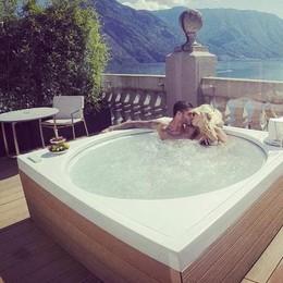 Icardi e Wanda in Rolls Royce  Notte al Grand hotel Tremezzo
