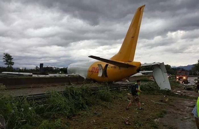orio al serio incidente aereo. foto eco di Bergamo