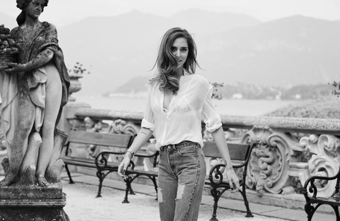 Chiara ferragni a Villa Balbianello foto dal suo sito the blonde salad