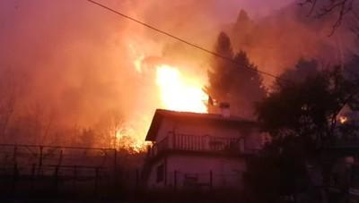 Incendio a Veleso