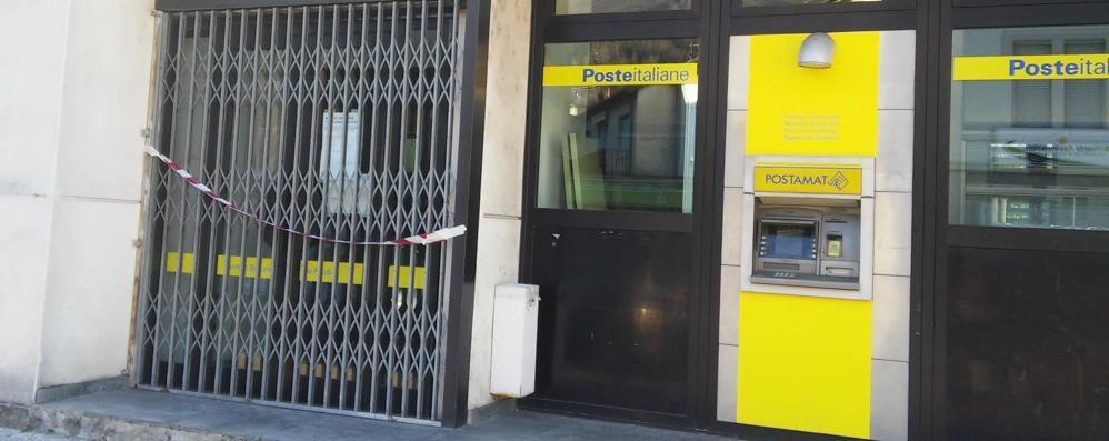 Lavori in corso all'ufficio postale  Sportelli aperti soltanto alla mattina
