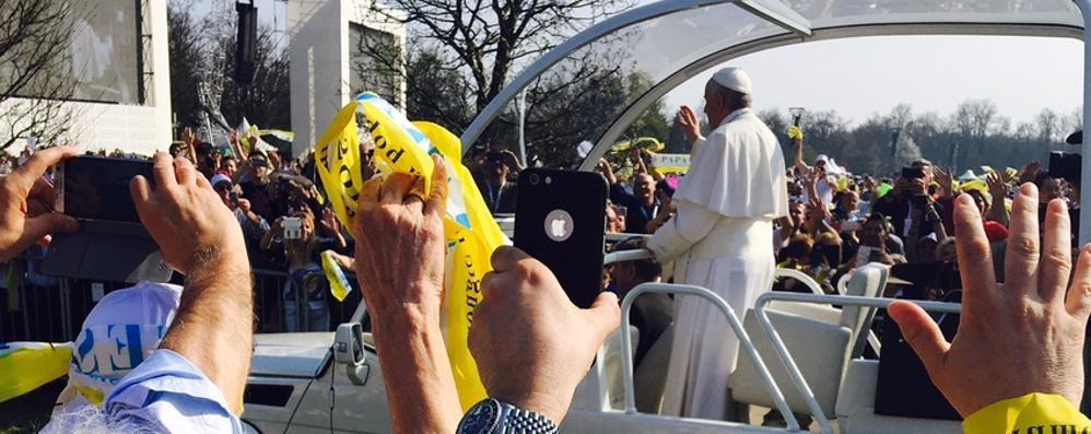Ventimila lecchesi a Monza  «Un Papa che unisce»