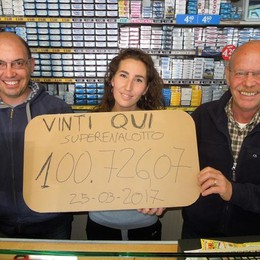 Erba,100 mila euro al SuperEnalotto  Colpo al market durante lo shopping