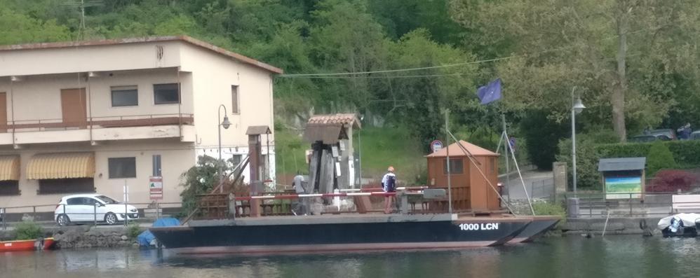 Adda  più alto,traghetto di Leonardo  riprende a navigare