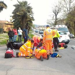 Scontro fra auto e moto  Paura a Olgiate Molgora