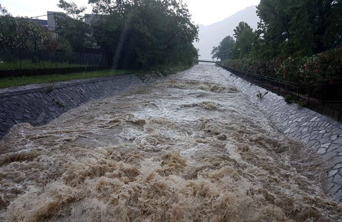 Il torrente Varrone a Dervio (Foto Sandonini)
