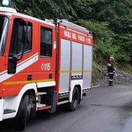 Frana, ripulita la strada  Provinciale riaperta a Bellano