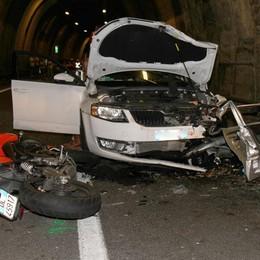 Menaggio, grave incidente in galleria Ferita portata all'ospedale in elicottero