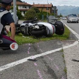 Incidente lungo la statale 38  Motociclista in gravi condizioni