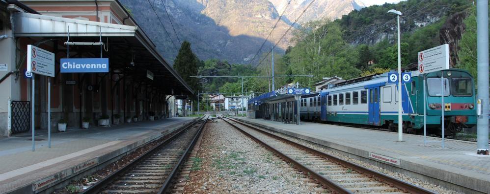 Treno investe cervo in Valchiavenna, treni in ritardo