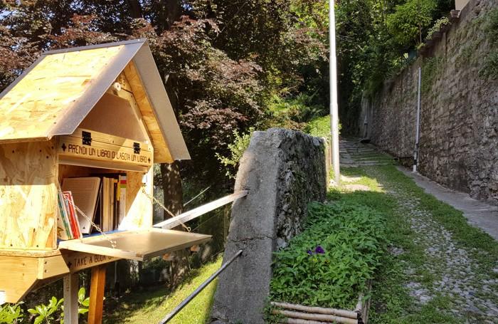 Parco letterario Monte dei Poeti: una little free library in salita San Donato tra Como e Brunate