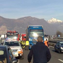 Incidente sulla statale 36  Code in direzione Milano