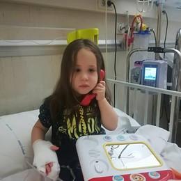La piccola Laura dimessa dall'ospedale  «Siamo a metà strada, ma fiduciosi»