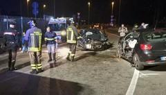 Terribile scontro frontale a Olginate  Quattro  feriti, una donna è grave