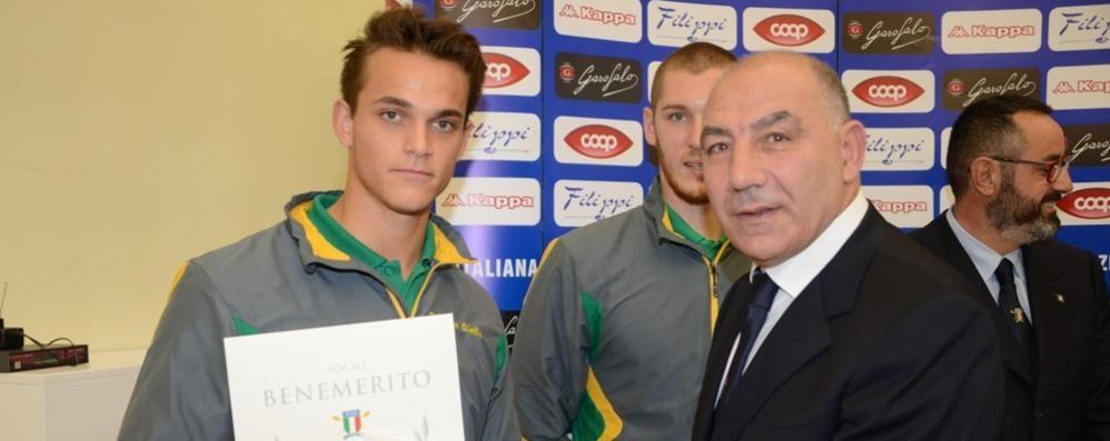 Andrea Panizza atleta dell'anno  Carlo Mornati, diploma d'onore