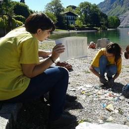 Una eco-nuotata da Mandello a Onno  Legambiente cerca la plastica nel lago