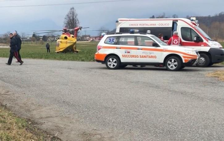 Infortunio sul lavoro a Colico  Gommista soccorso con l'elicottero