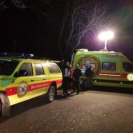 """Due alpinisti """"incrodati"""" sul Grignone  Recuperati con l'elicottero alle 21.15"""