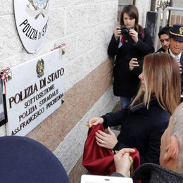 La caserma di Bellano  dedicata all'agente Pischedda
