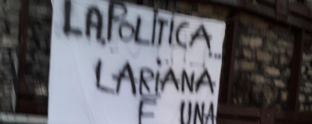 Argegno, lenzuolo di protesta   Oggi la firma per i lavori sulla frana
