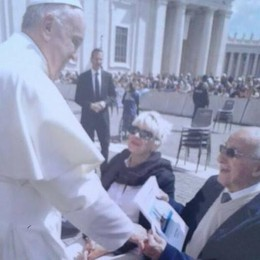 A 98 anni incontra Papa Francesco  «È stata l'emozione più grande»