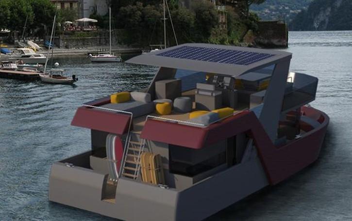 Be Lake, houseboat Made in Como  La camera dell'hotel è sulla barca