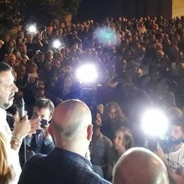 Salvini a Sondrio: «Porte aperte solo agli onesti»