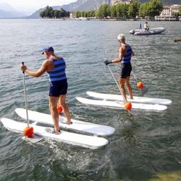 """In acqua sulla scia di Pietro Vassena  """"Skivass"""", un pomeriggio di spettacolo"""