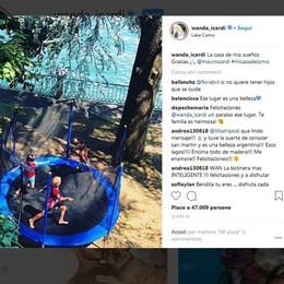 Wanda Nara annuncia sui social  «Casa da sogno sul lago di Como»