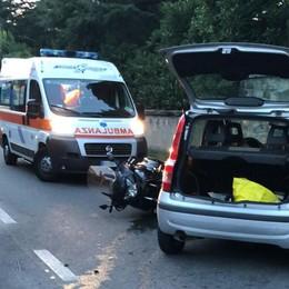 Auto contro moto a Casatenovo  Paura per un uomo di 61 anni