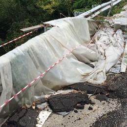 Sopracornola, frana e smottamenti  Dopo due anni la strada verrà riparata