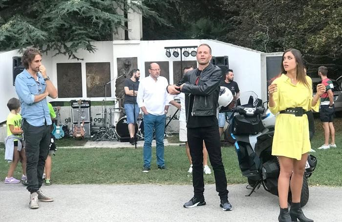 Rugiati e Ludovica Frasca al parco Majnoni