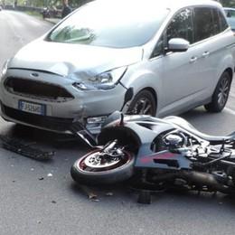 Nesso, incidente sulla Lariana  Paura per motociclista
