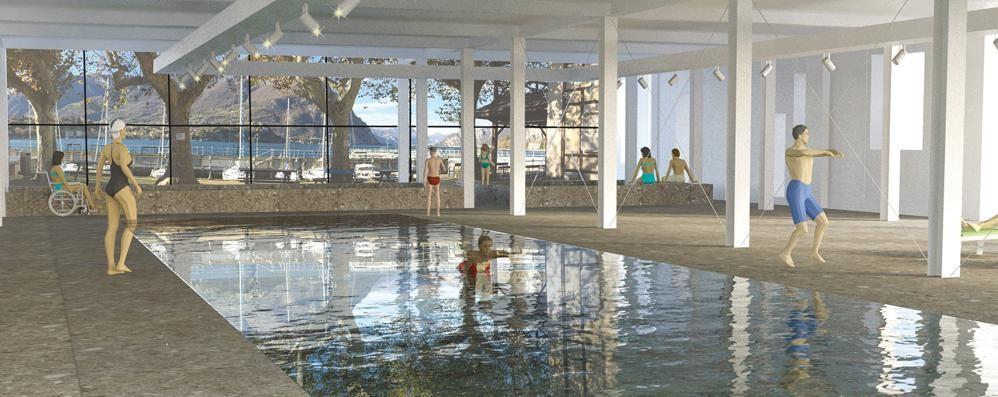 Alla Canottieri Lecco  una piscina coperta