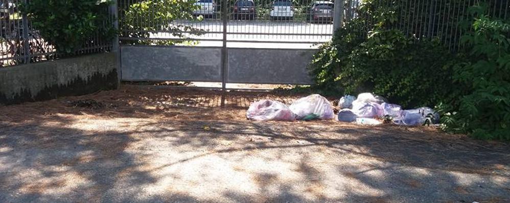 Ci risiamo, altri rifiuti abbandonati  Questa volta però scatta la sanzione