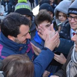 Salvini  a Bormio,  un bagno di folla