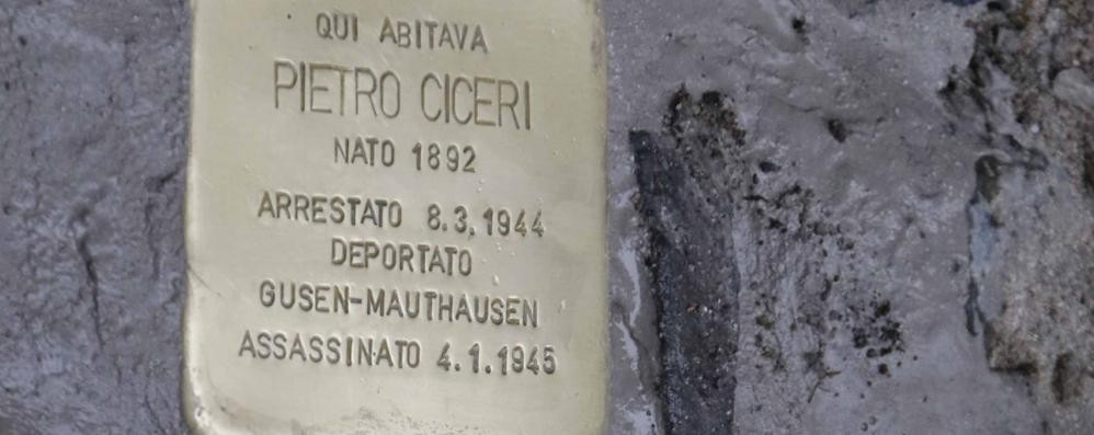 Lecco, pietre d'inciampo   per non dimenticare l'orrore nazifascista