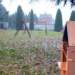 Il parco giochi completamente a nuovo  E sarà anche sicuro, a prova di vandali