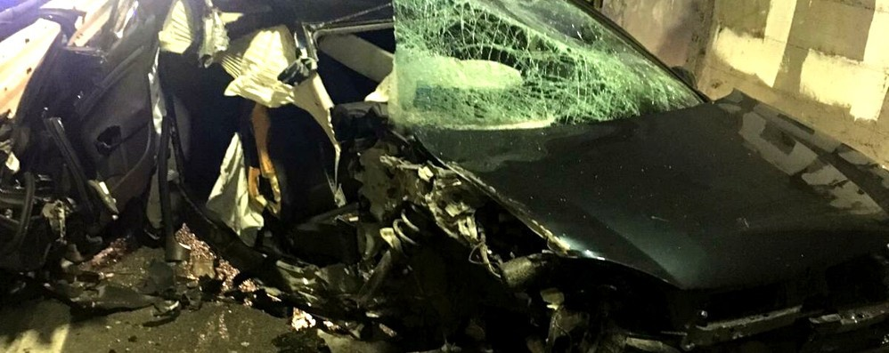 Incidente in galleria Ragazzi feriti a Dongo