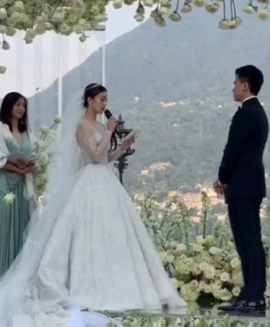 La cerimonia a  Villa Erba