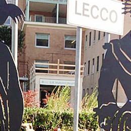 All'entrata di Lecco   Renzo e Lucia   danno il benvenuto